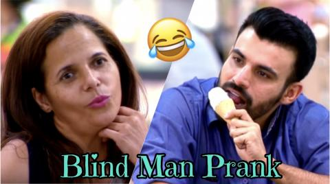 Blind Man Prank
