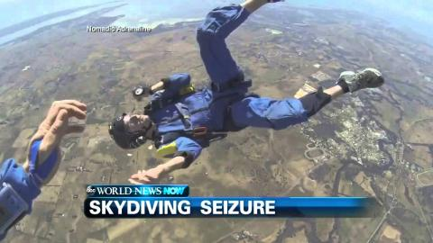 Dramatic Video Shows Guy Having Seizure While Skydiving